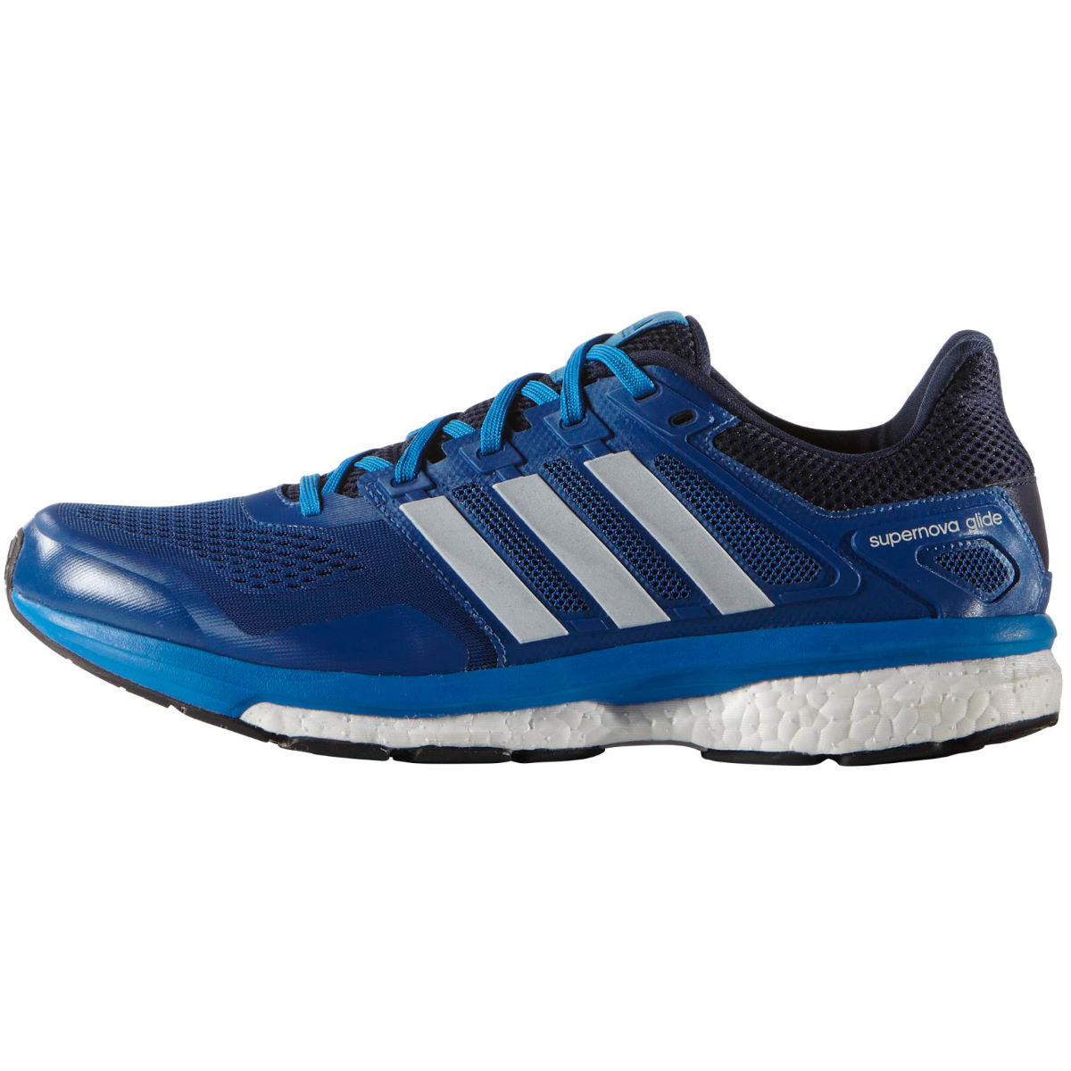 Chaussures Adidas Supernova Glide Boost 8 (PE16) - 7 UK Bleu/Blanc Chaussures de running amorties