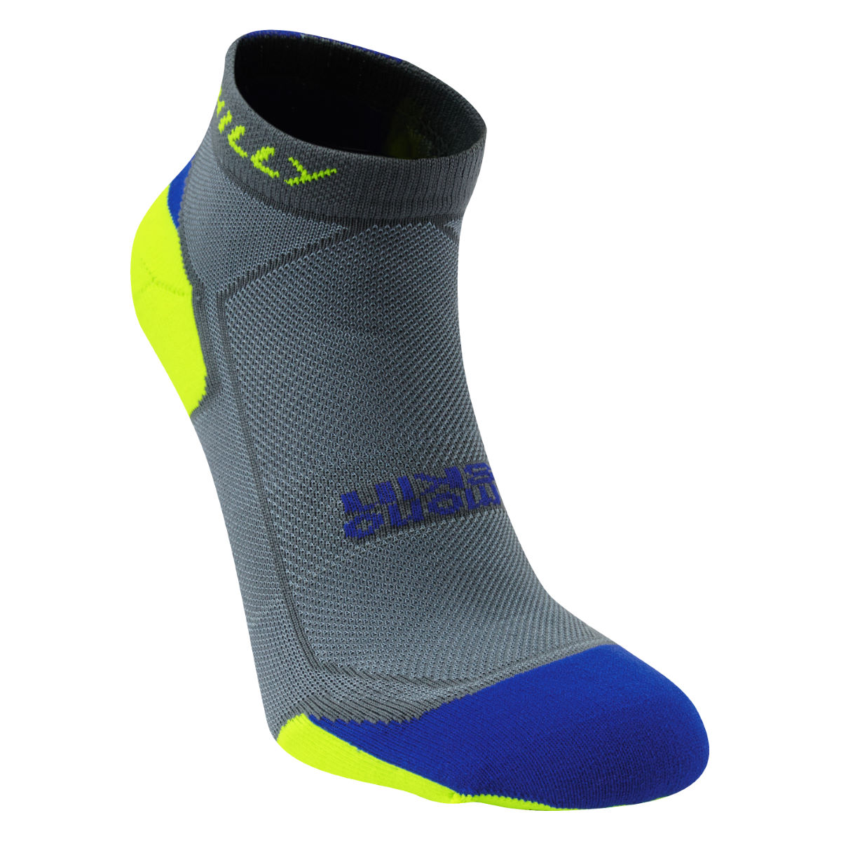 Chaussettes Hilly Lite-Cushion (basses) - S Grey/Cobalt/Yellow Chaussettes de running