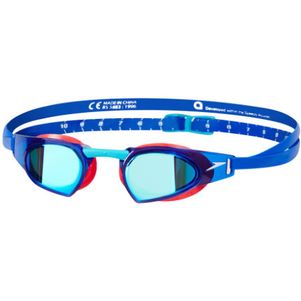 Speedo Speedo Fastskin Prime Mirror Goggle (Red/Blue)