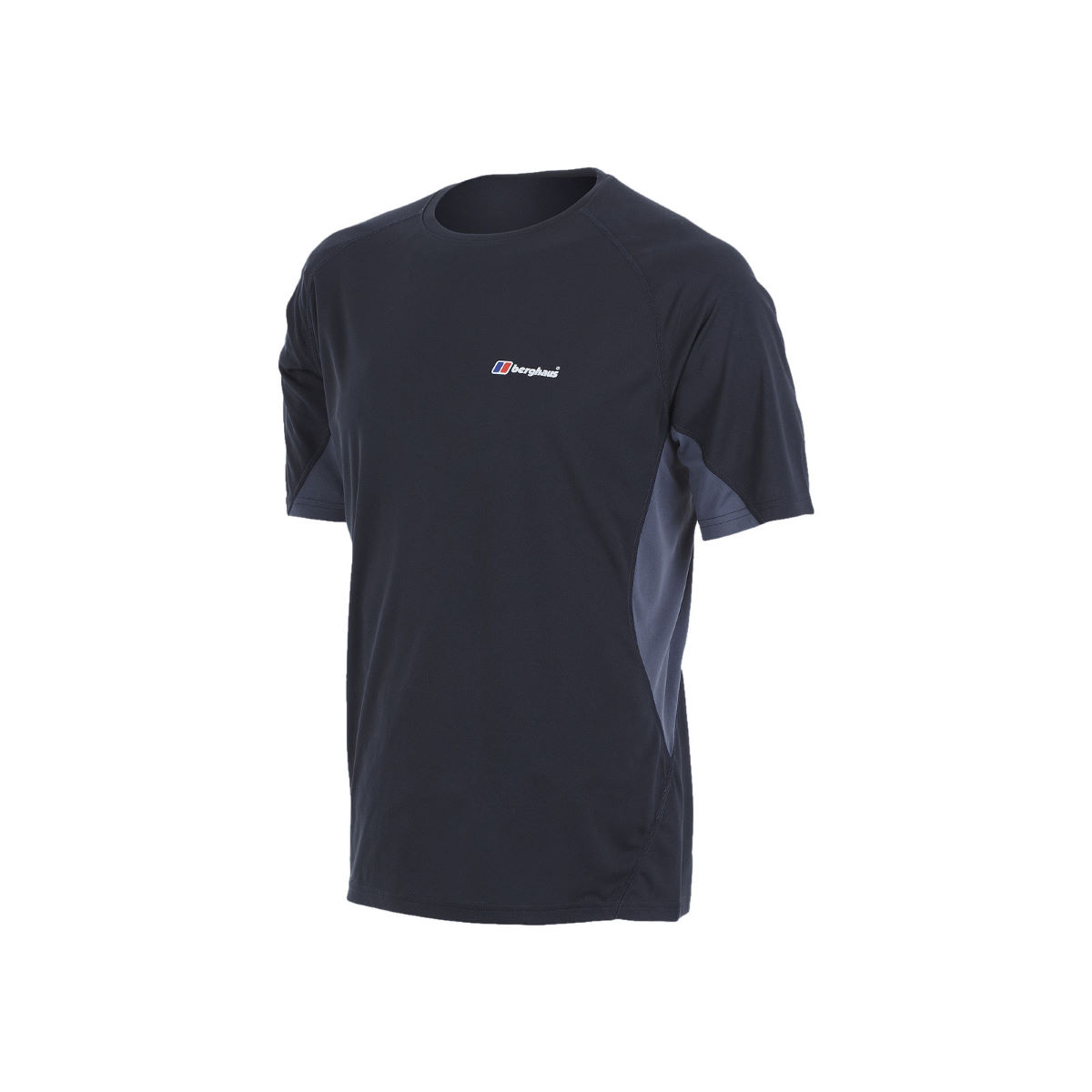 Maillot Berghaus Tech (col rond, manches courtes) - S Black / Grey