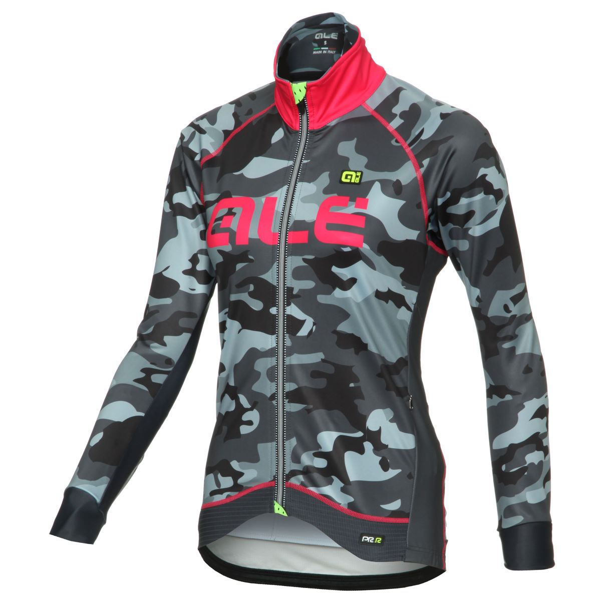 Veste Femme Alé PRR Camo (hiver) - XL Black/Strawberry Coupe-vents vélo