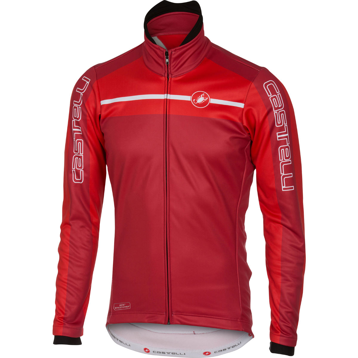 Veste Castelli Velocissimo - XL Red/Ruby Red Coupe-vents vélo