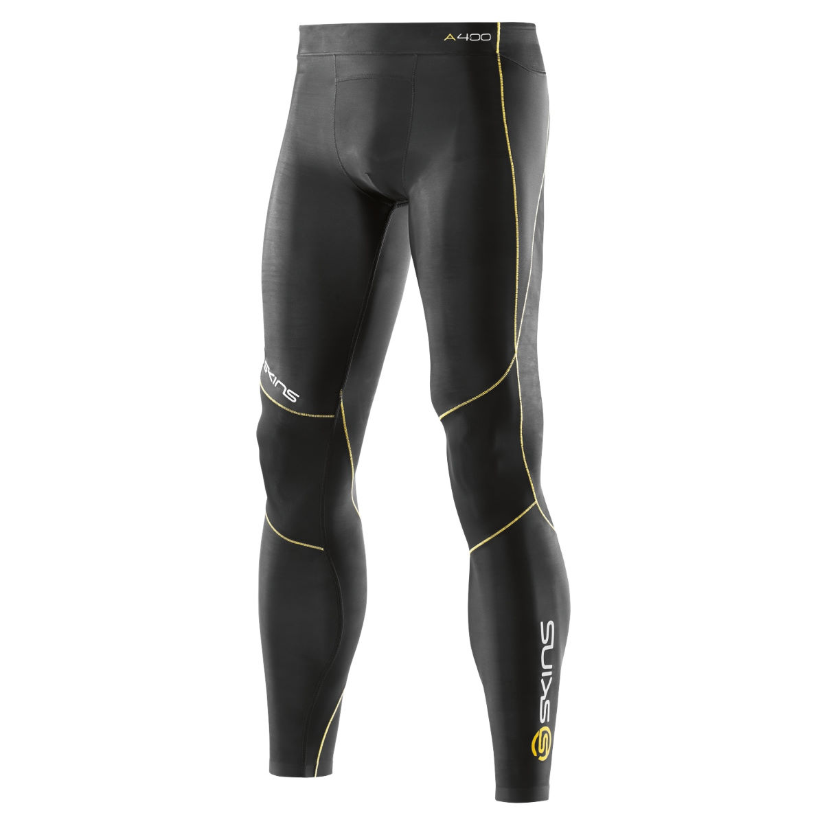 Collant long SKINS A400 - XS Noir/Jaune Sous-vêtements compression