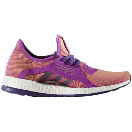 Adidas Women's Pure Boost X Shoes (Purple/Orange, AW16)
