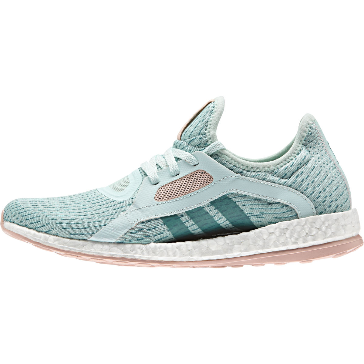 Image of Adidas Women's Pure Boost X (Green/Pink, AW16) Training Running Shoes