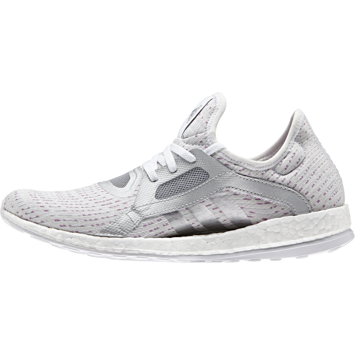 Image of Adidas Women's Pure Boost X (White/Silver, AW16) Training Running Shoes