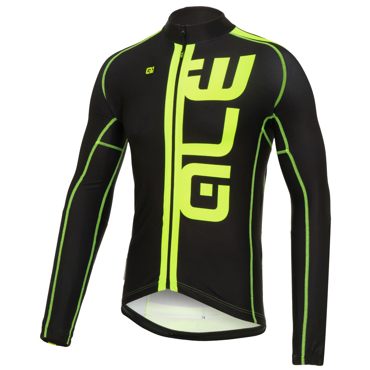 Alé Exclusive Ultra Canale LS Jersey - Large Black/Fluo Yellow
