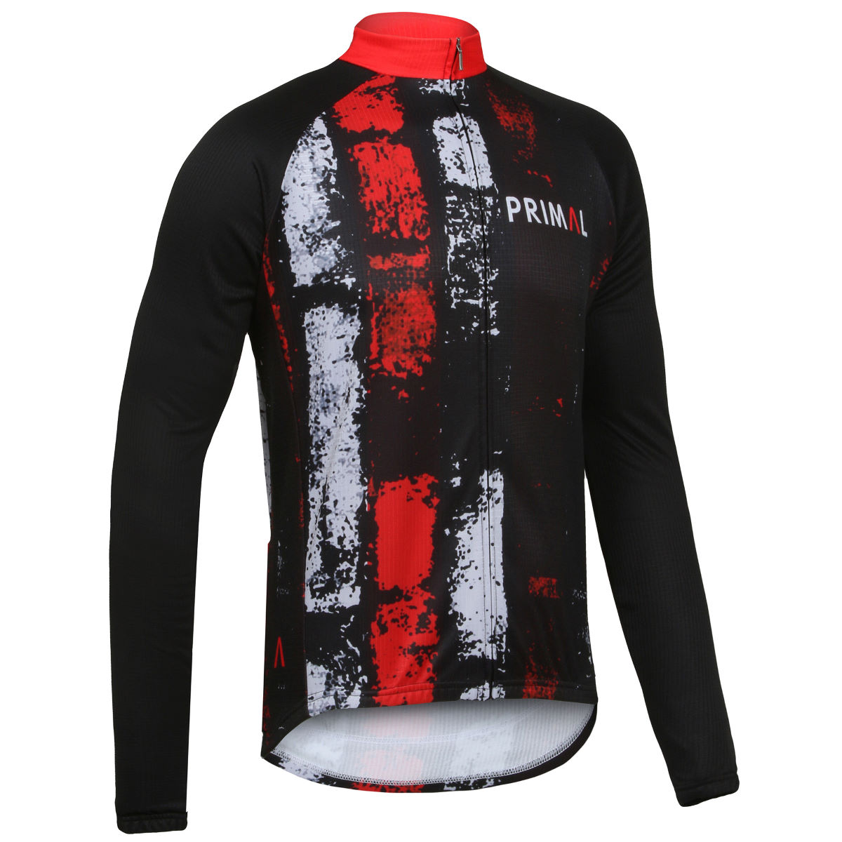 Maillot Primal Lane Change (manches longues) - S Black/Red/White Maillots vélo à manches longues