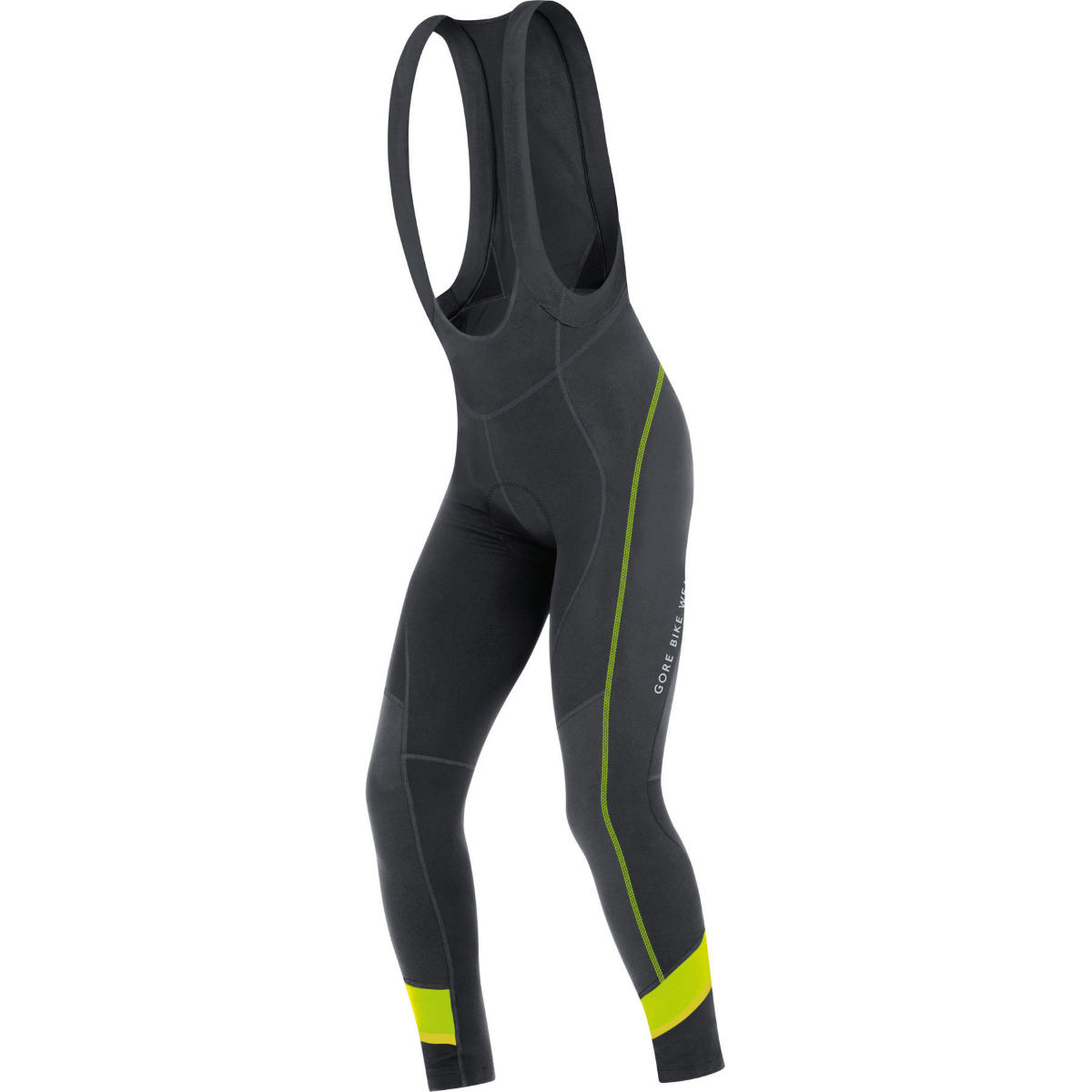 Cuissard long à bretelles Gore Bike Wear Power 3.0 Thermo+ - S Noir/Jaune Cuissards longs de vélo