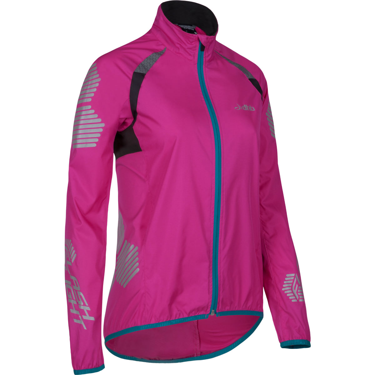 Veste cycliste coupe-vent Femme dhb Flashlight XT - 8 UK Rose Coupe-vents vélo