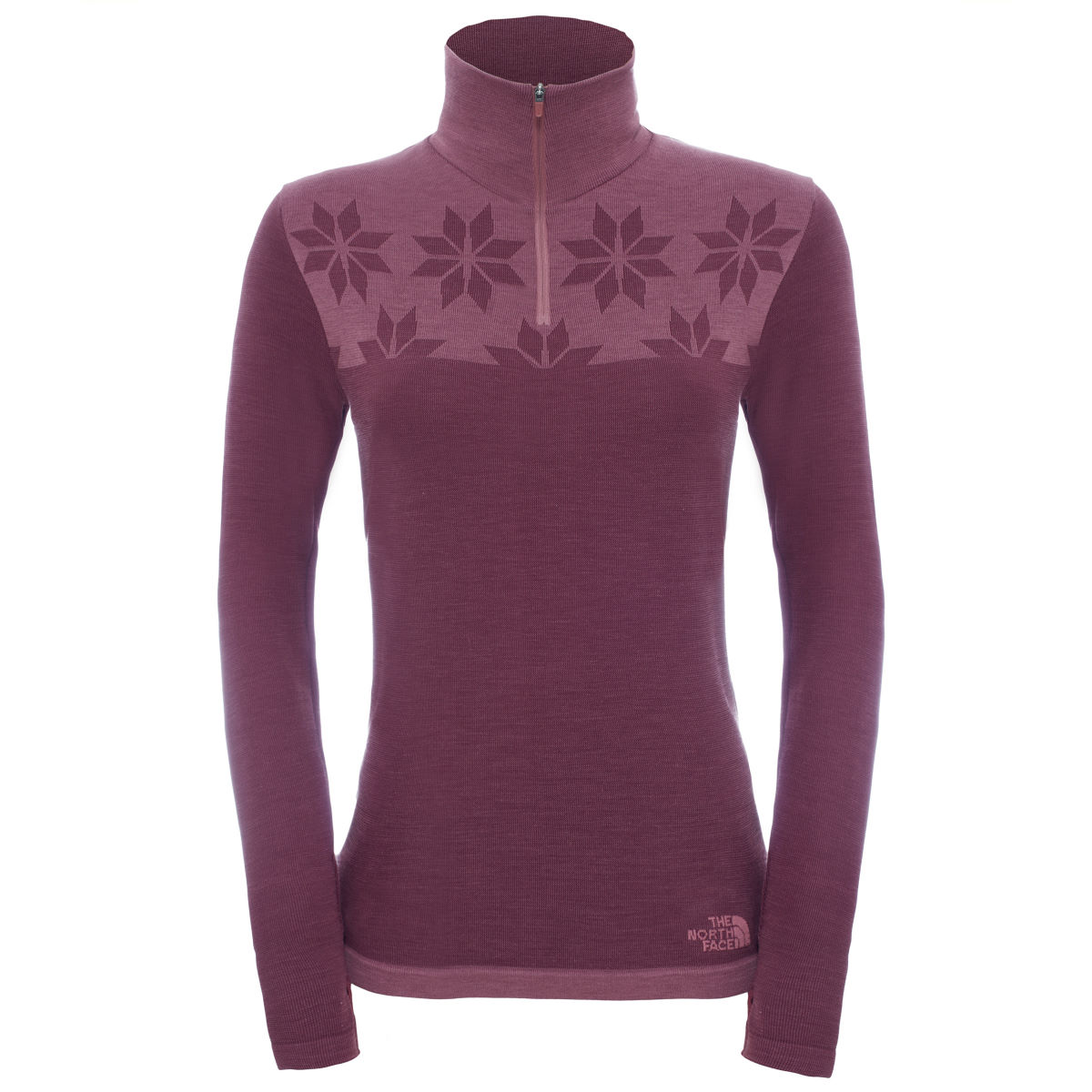Pull Femme The North Face Harpster (fermeture zippée 1/4) - XS Deep Garnet Red Maillots Outdoor