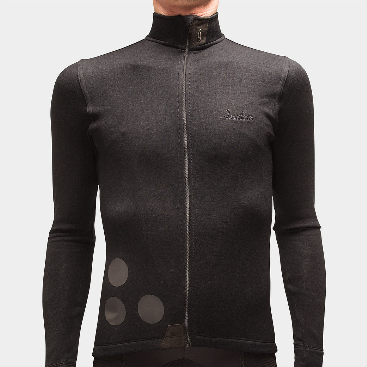 Maillot Isadore Thermerino (manches longues) - M Noir