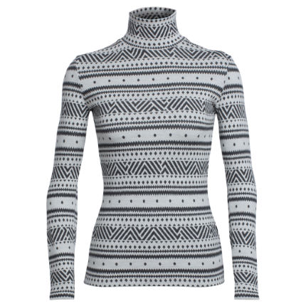 Icebreaker Vertex Icon Fairisle Turtlenec damesshirt (lange mouwen)