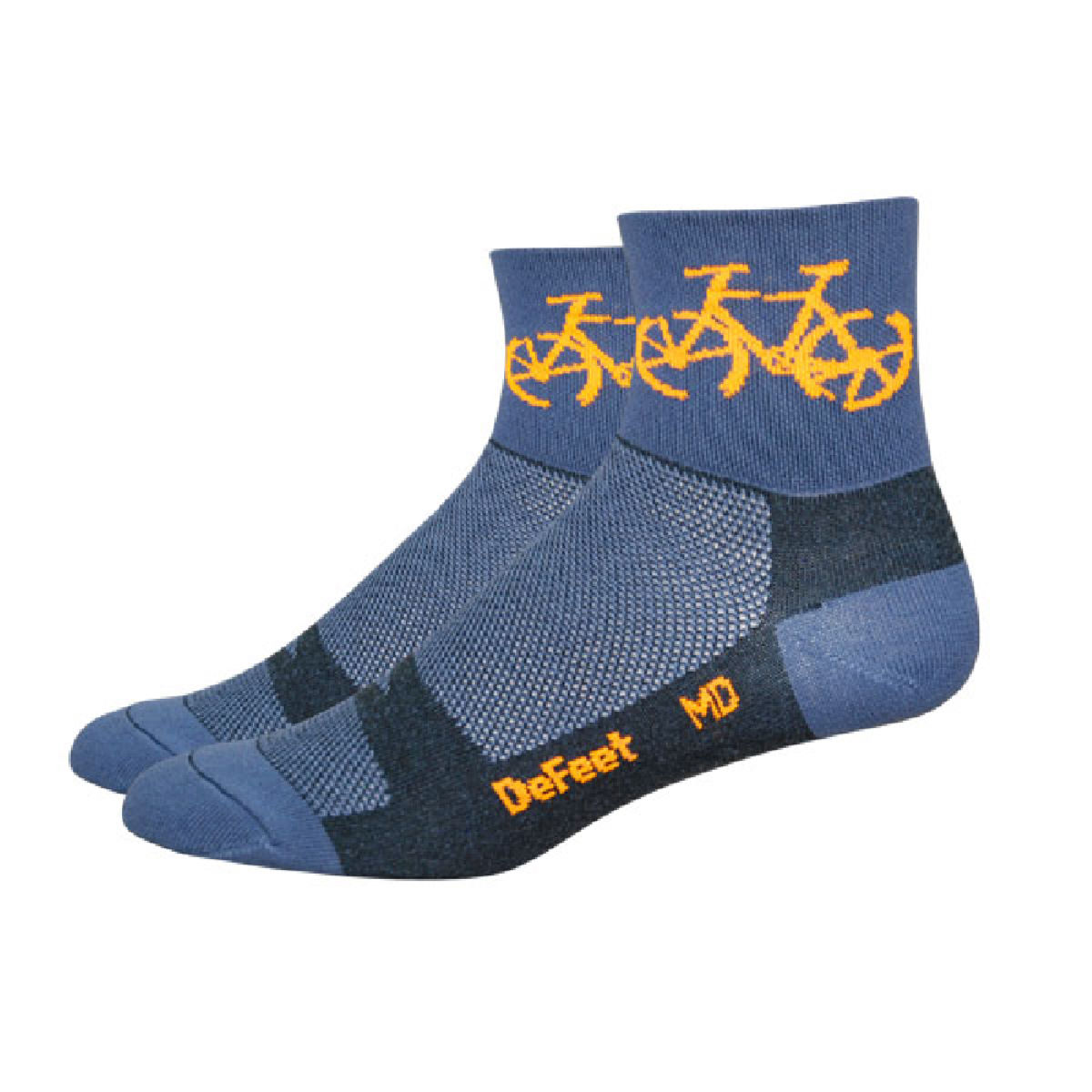 Chaussettes DeFeet Aireator Townee - S Graphite/Orange Chaussettes