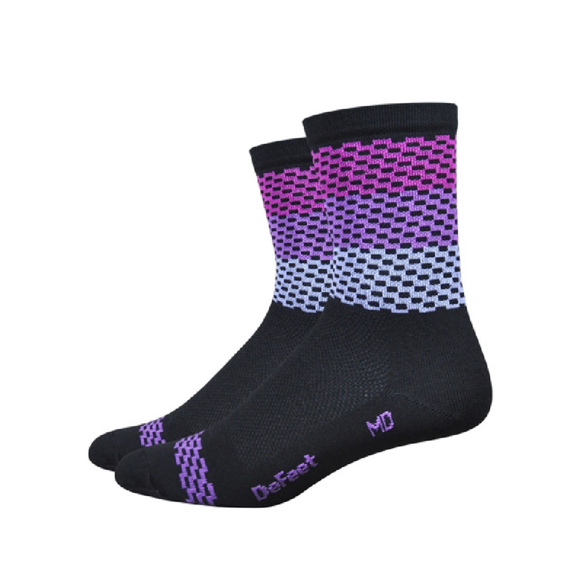 Chaussettes DeFeet Aireator Charleston - S Black/Purple Chaussettes