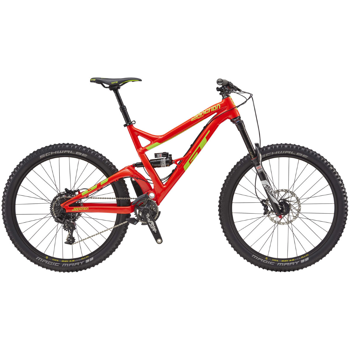 GT Sanction Expert (2017) Mountain Bike   Full Suspension Mountain Bikes