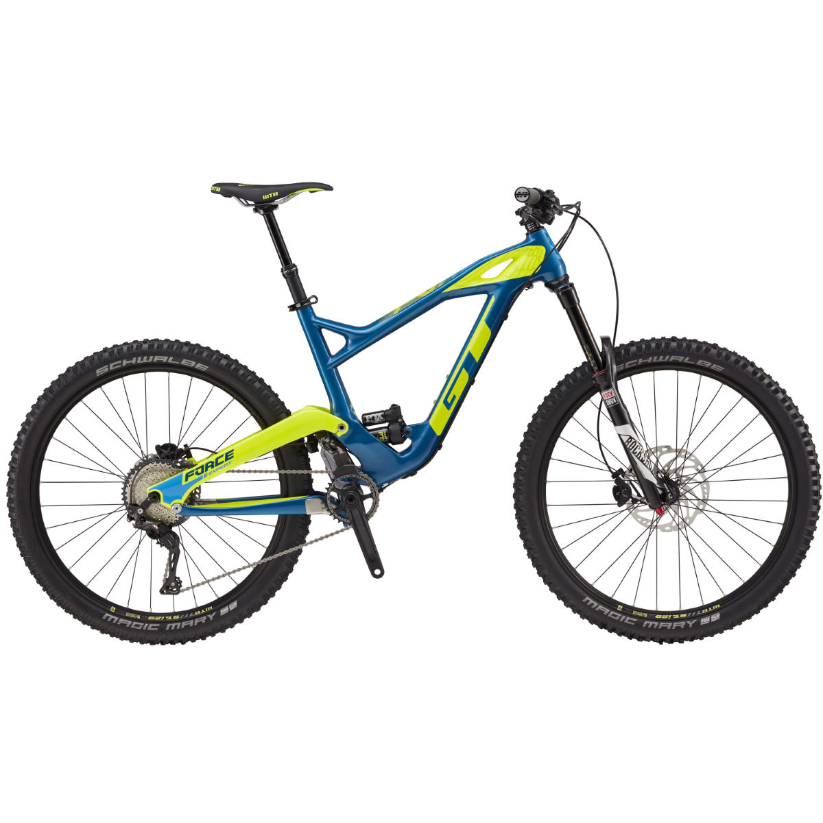 VTT GT Force Carbon Expert (2017) - XL Blue/Yellow VTT tout suspendu