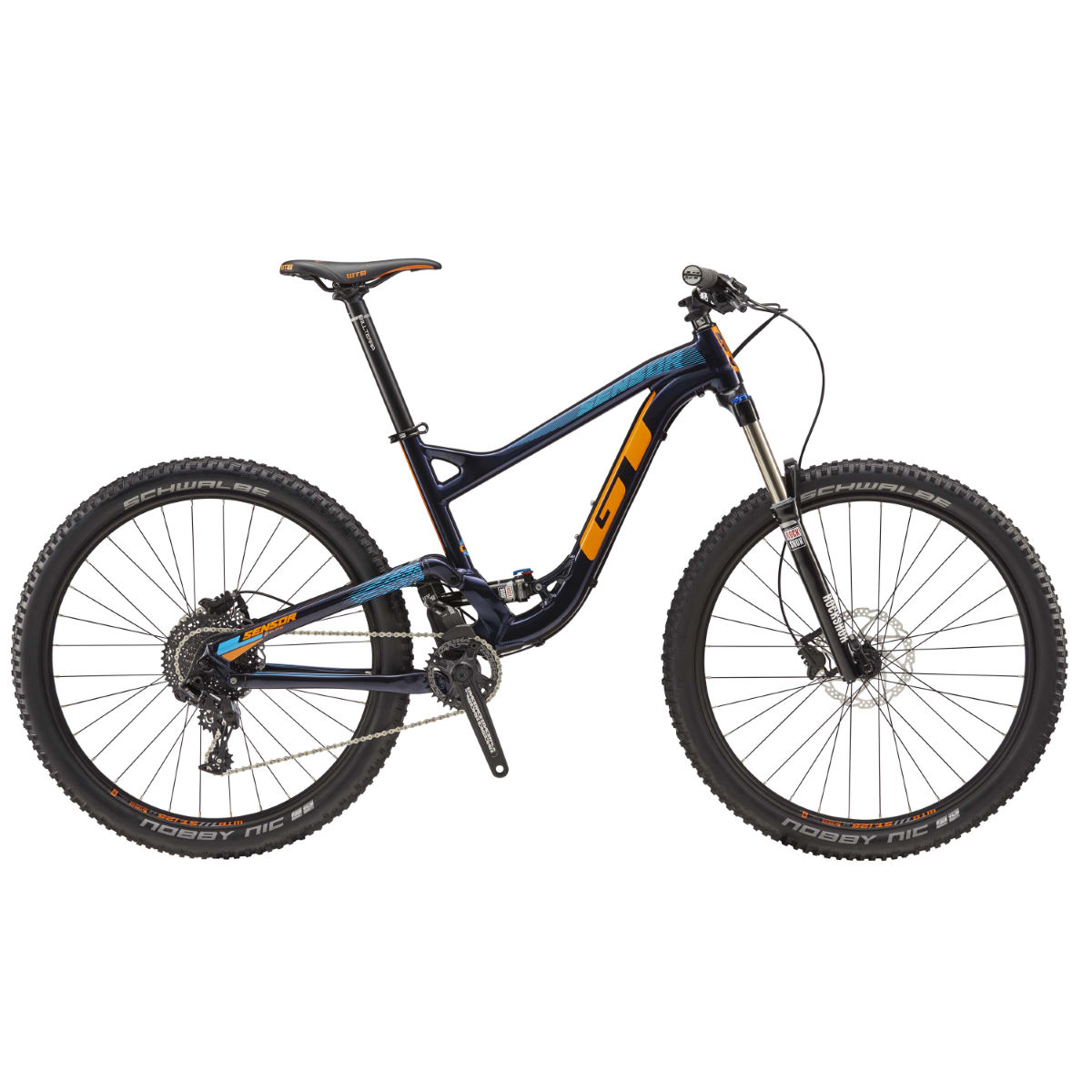 VTT GT Sensor AL Elite (2017) - XL Blue/Orange VTT tout suspendu
