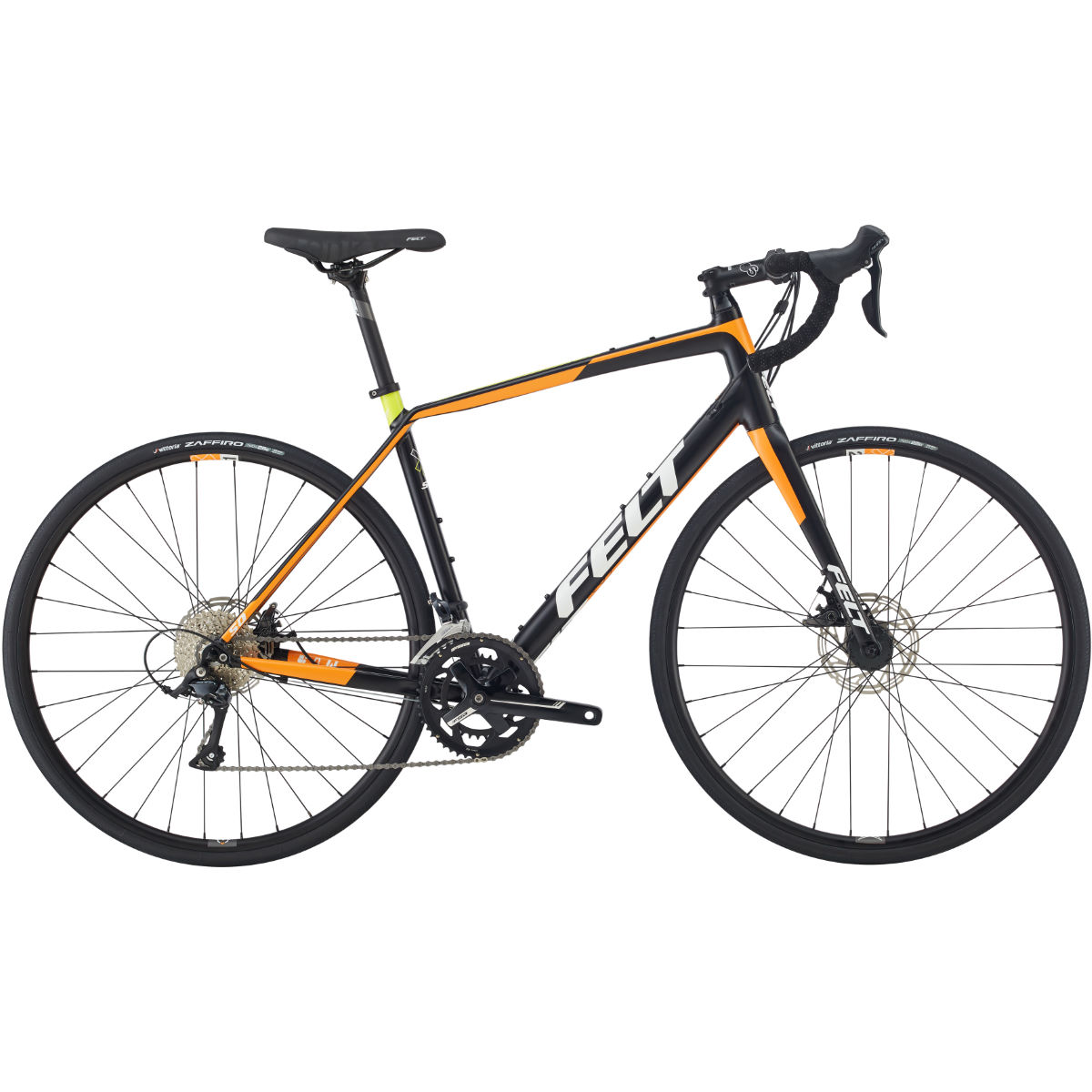 Vélo de route Felt VR50 (Sora, 2017) - 51cm Stock Bike Noir/Orange