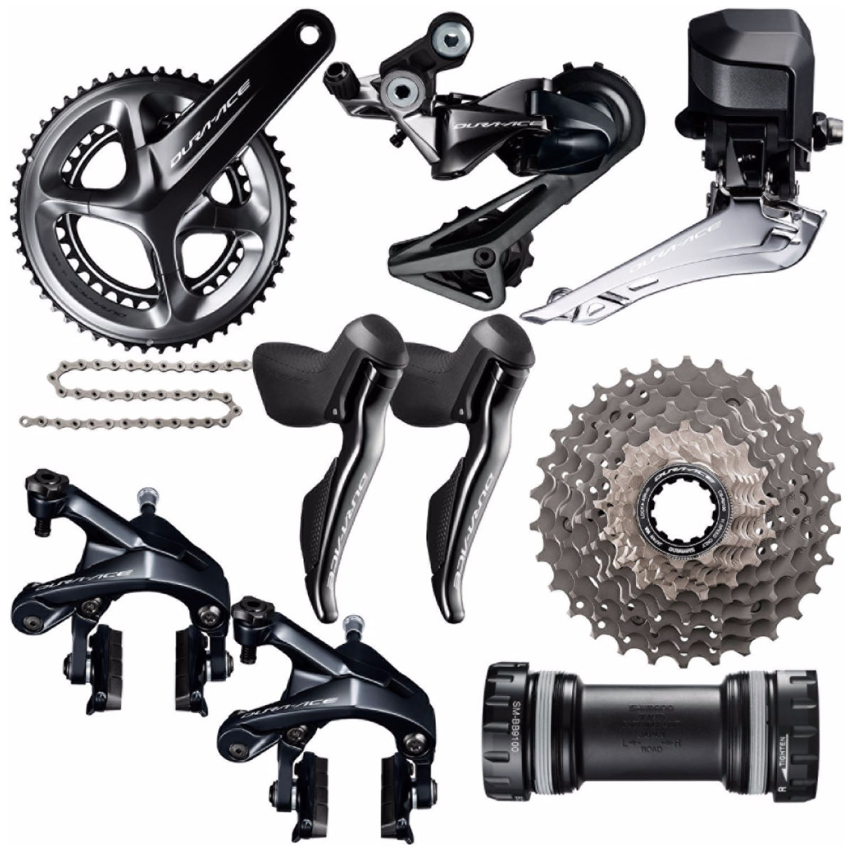 Groupe Shimano Dura Ace 9150 Di2 - 50-34, 172.5mm Noir Groupes