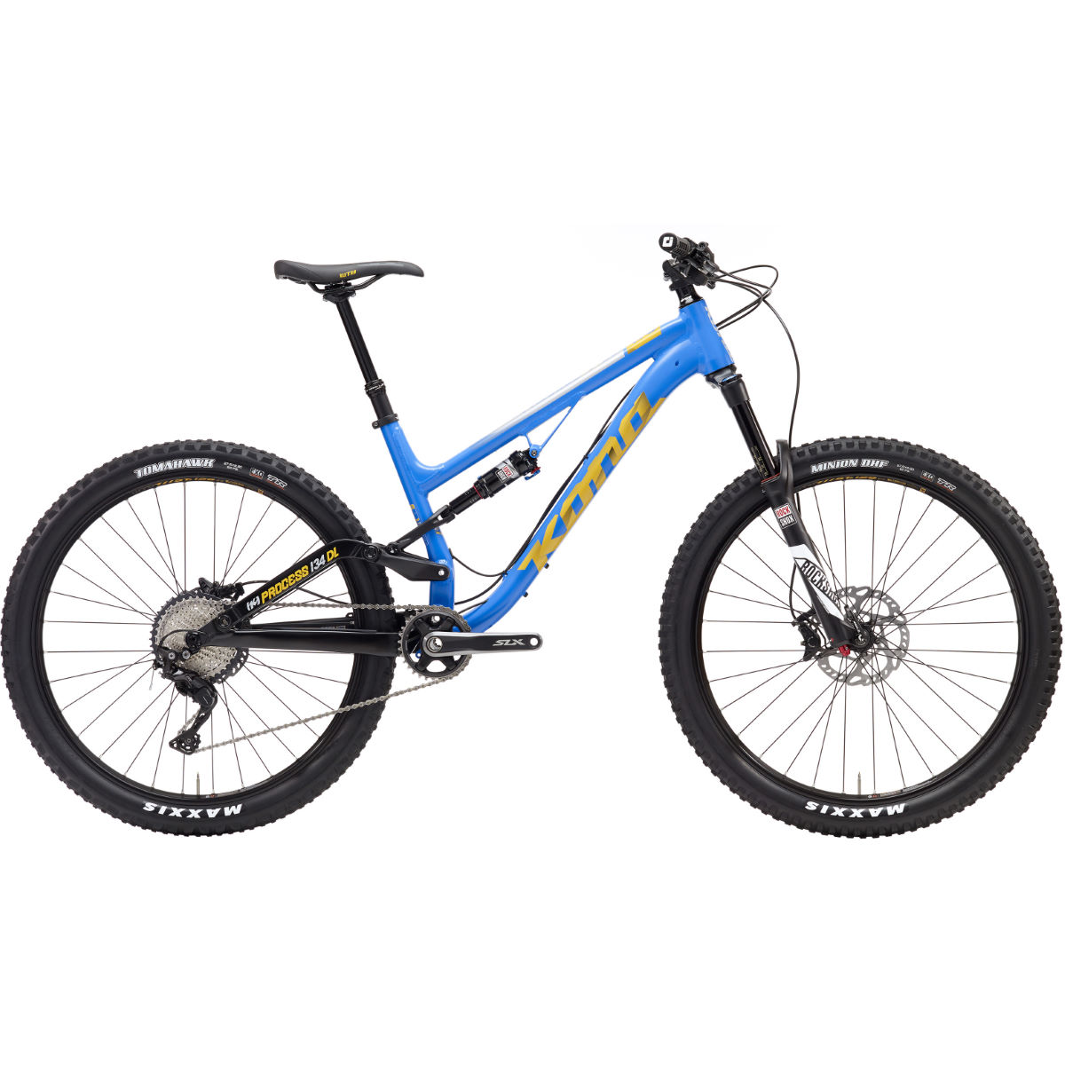 VTT Kona Process 134 DL (2017) - X Small Stock Bike Bleu
