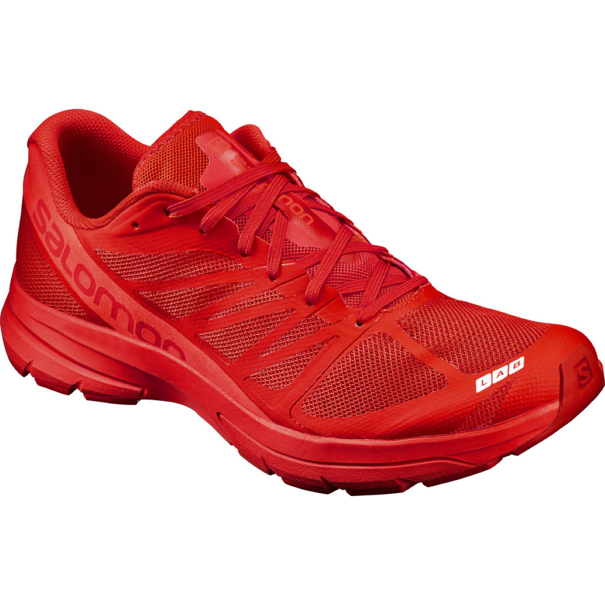 Chaussures Salomon S-Lab Sonic 2 (PE17) - 10 UK Red/Lava Chaussures de running amorties