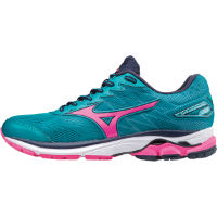Mizuno Womens Wave Rider 20 Shoes Pink/Blue UK 7