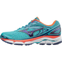 Mizuno Womens Wave Inspire 13 Shoes Blue/Pink UK 5