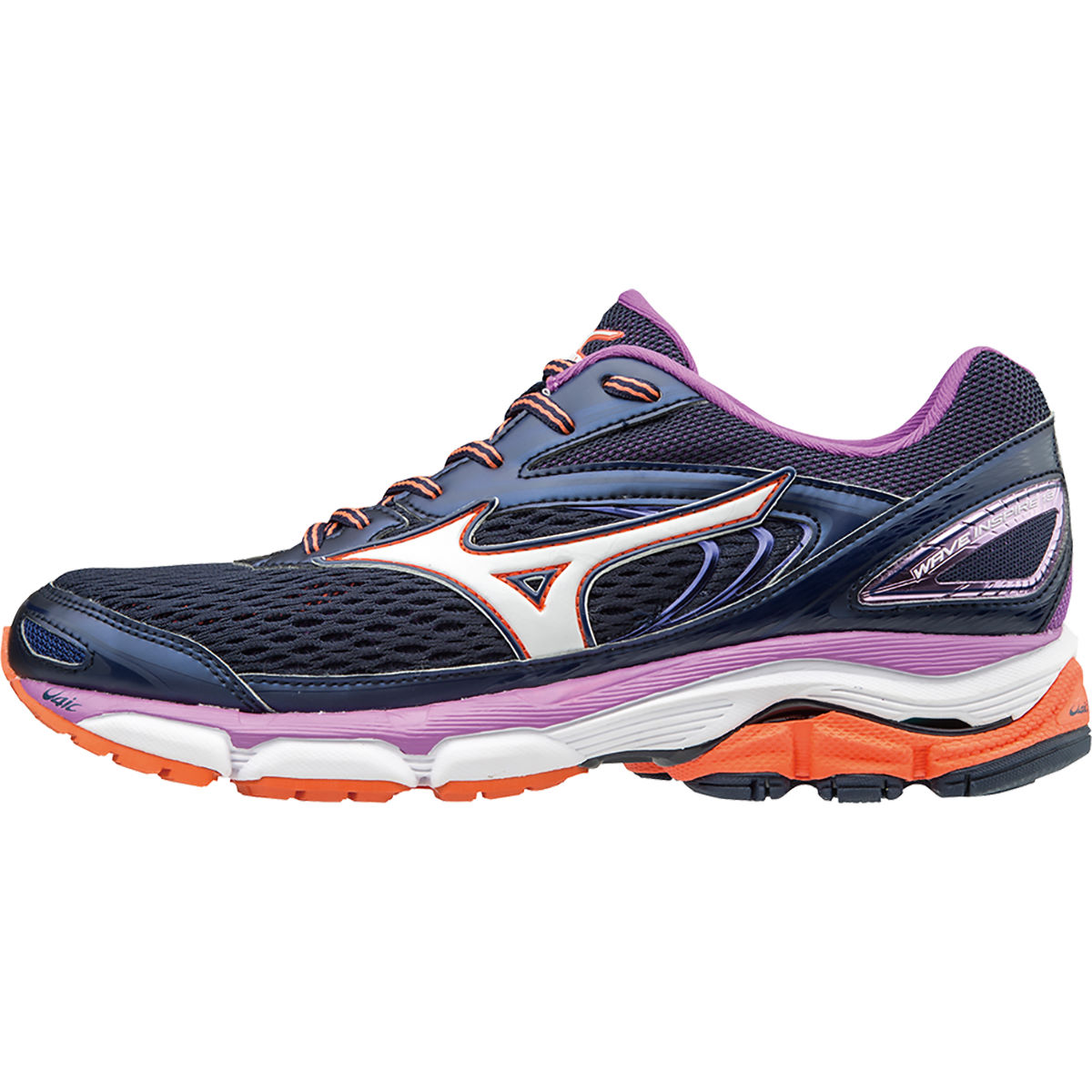 Chaussures Femme Mizuno Wave Inspire 13 - UK 4 Peacoat/White/Camell