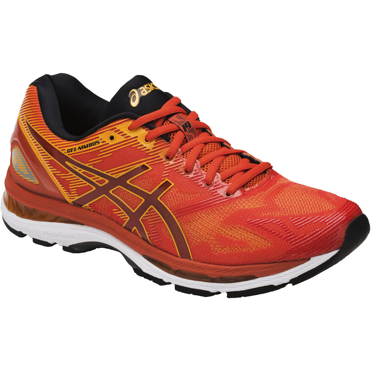 Chaussures Asics Gel-Nimbus 19 - UK 10 Red Clay/Gold Fusion Chaussures de running amorties