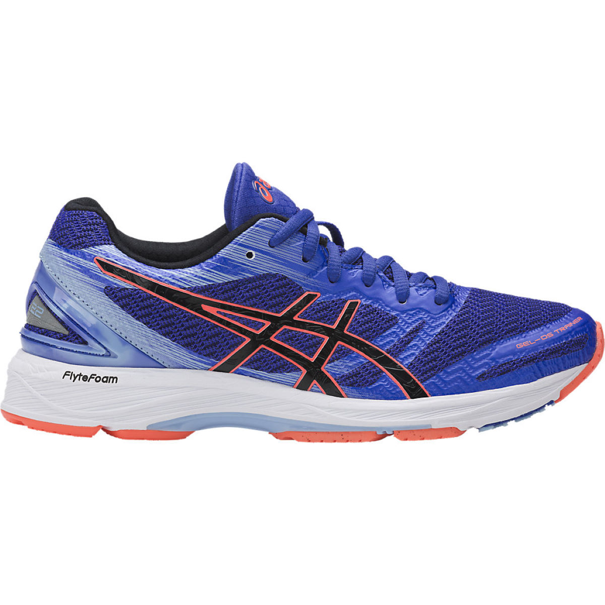 Chaussures Femme Asics Gel DS Trainer 22 - UK 4 Blue Purple/Black/Fl