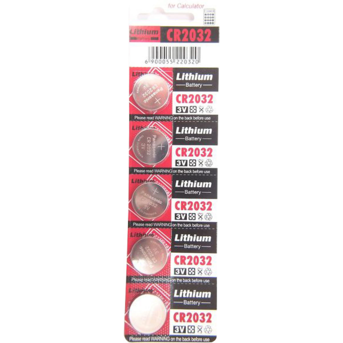 Product image of LifeLine CR2032 Lithium Battery (5 Pack)   Batteries