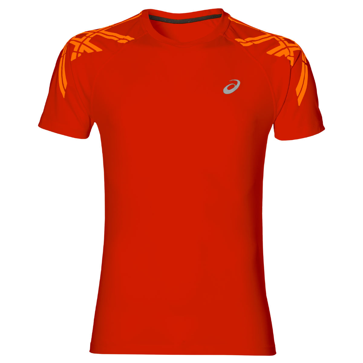 Maillot Asics Stripe (manches courtes) - S 0535 Red Clay heathe