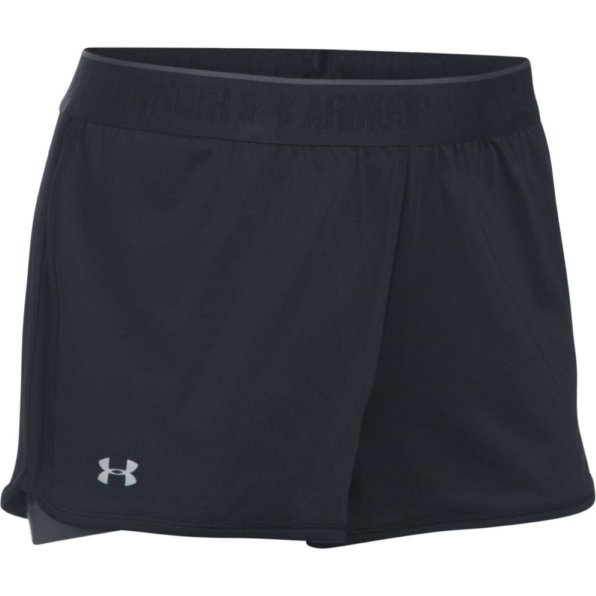 Short Femme Under Armour HeatGear Armour (2 en 1, PE17) - XS Black/Rhino Gray Shorts de running