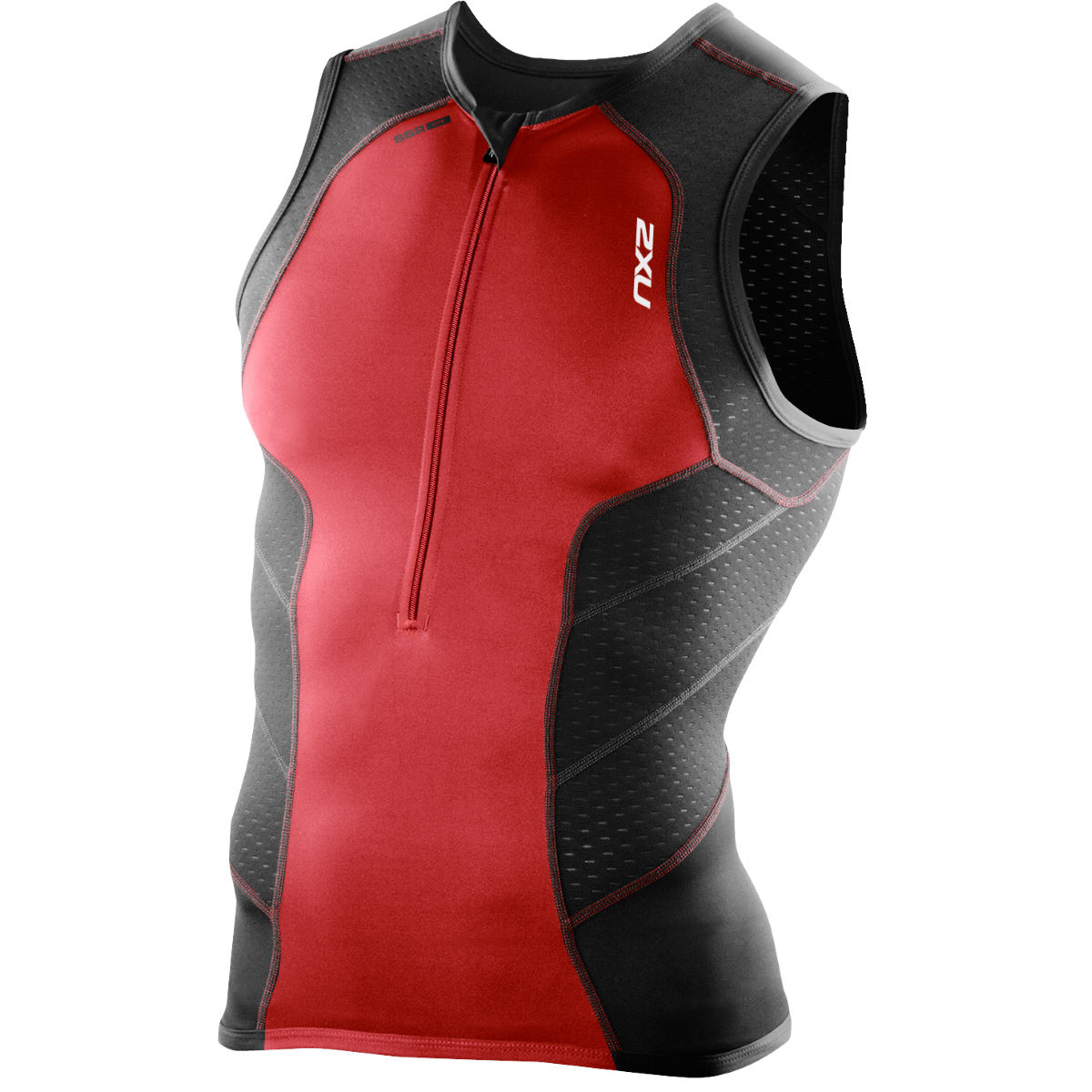 2XU Perform Tri Singlet - Extra Extra Large Black/High Risk Red