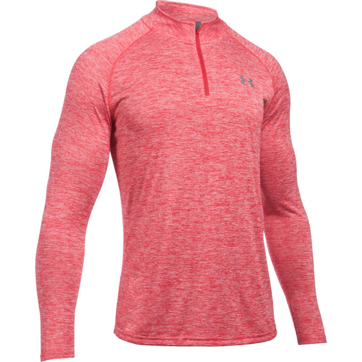 Maillot Under Armour Tech (fermeture zippée 1/4, PE17) - XL Red/Graphite Hauts de running à manches longues