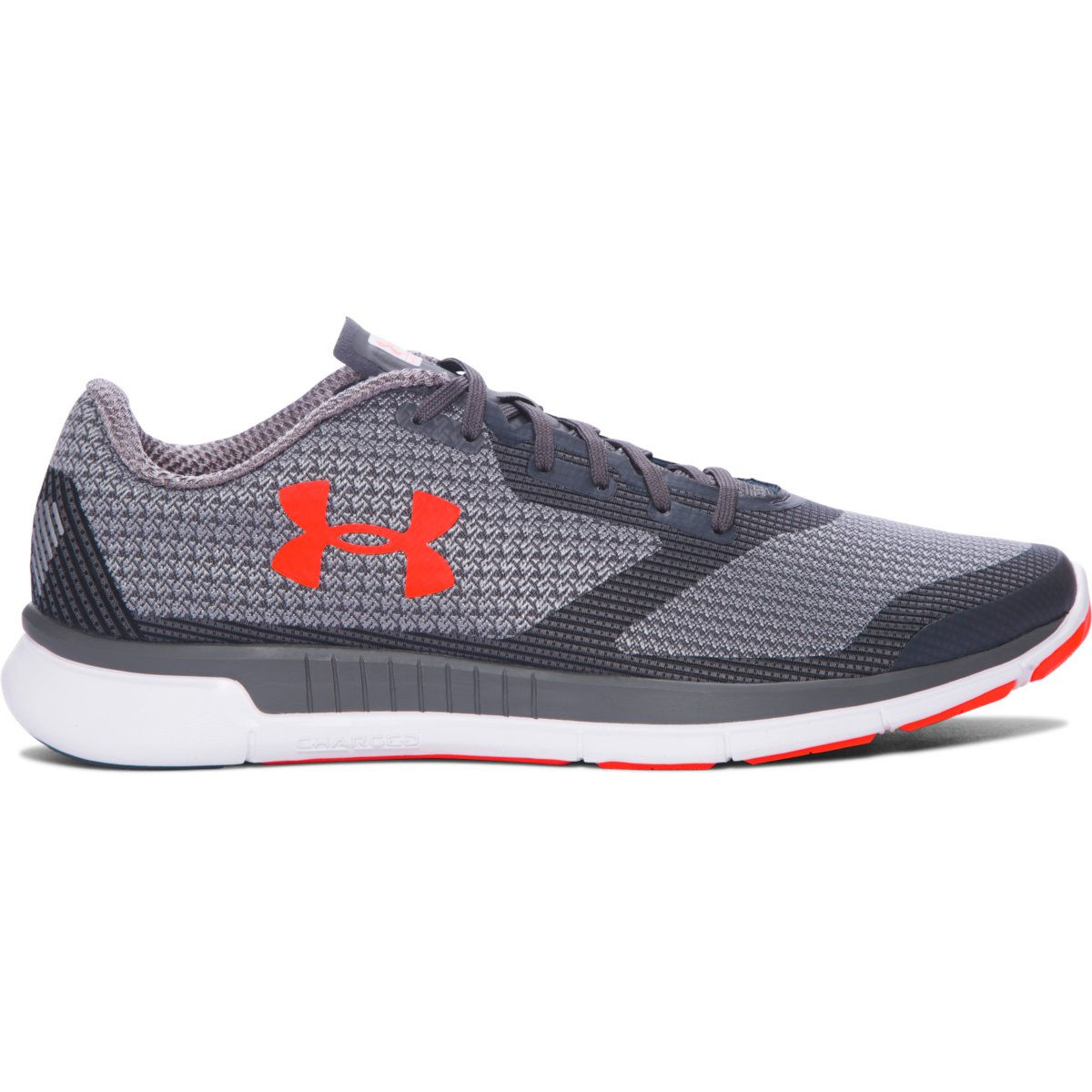 Chaussures Under Armour Charged Lightning (PE17) - 7 UK Rhino Gray/Gray Chaussures de running amorties