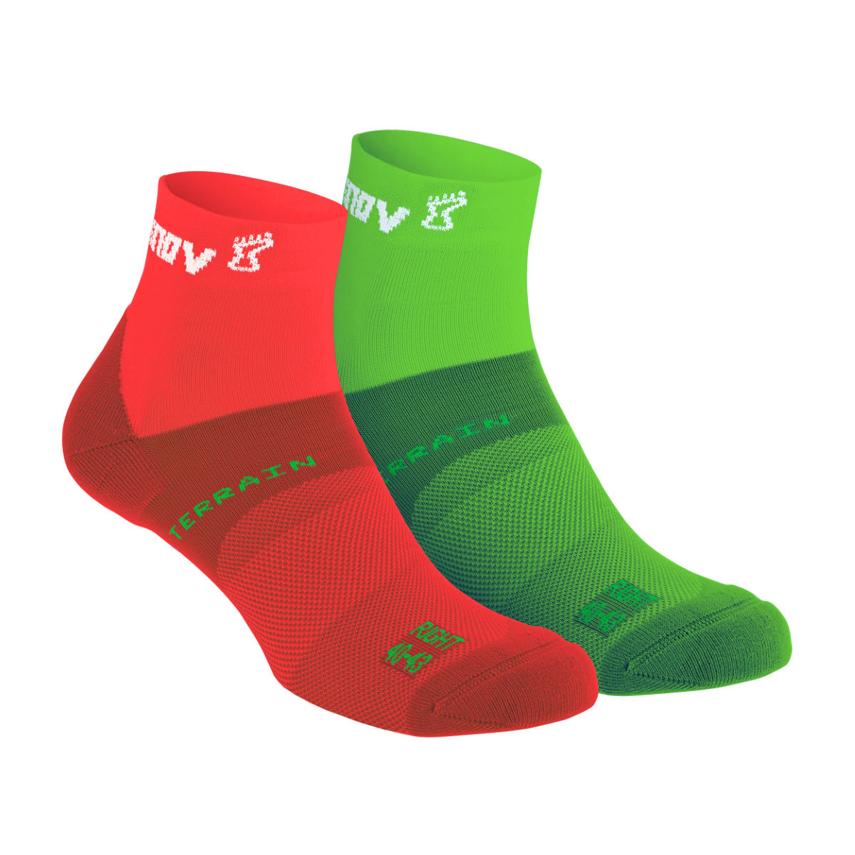 Chaussettes Inov-8 All Terrain Sock Mid (lot de 2 paires) - S Rouge