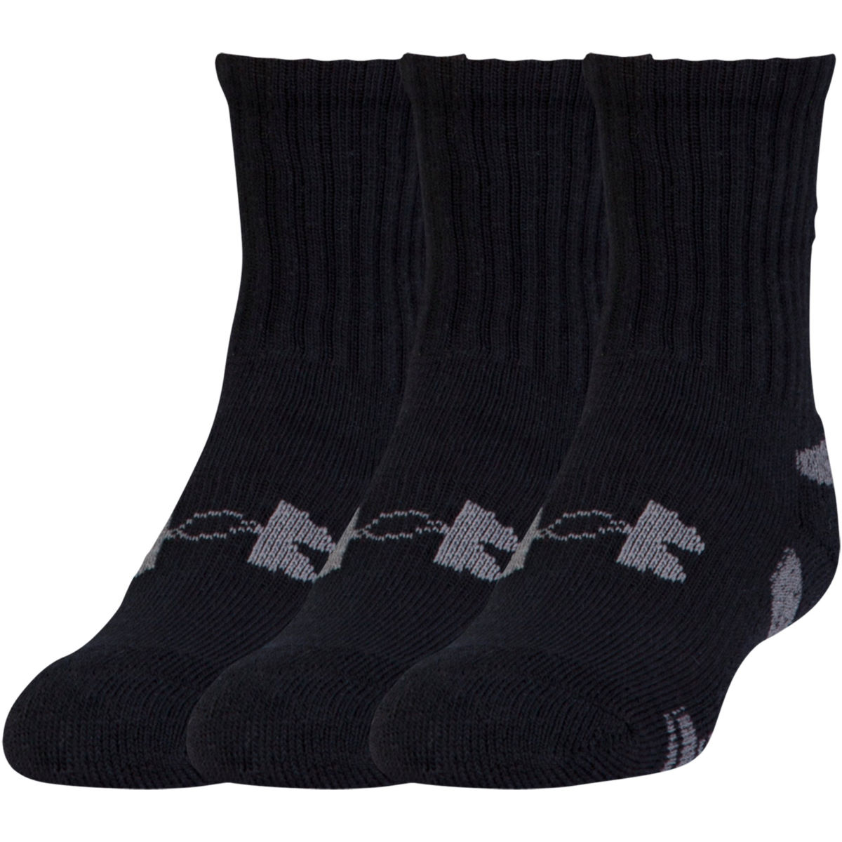 Chaussettes Under Armour HeatGear Crew (lot de 3) - M Noir/Blanc
