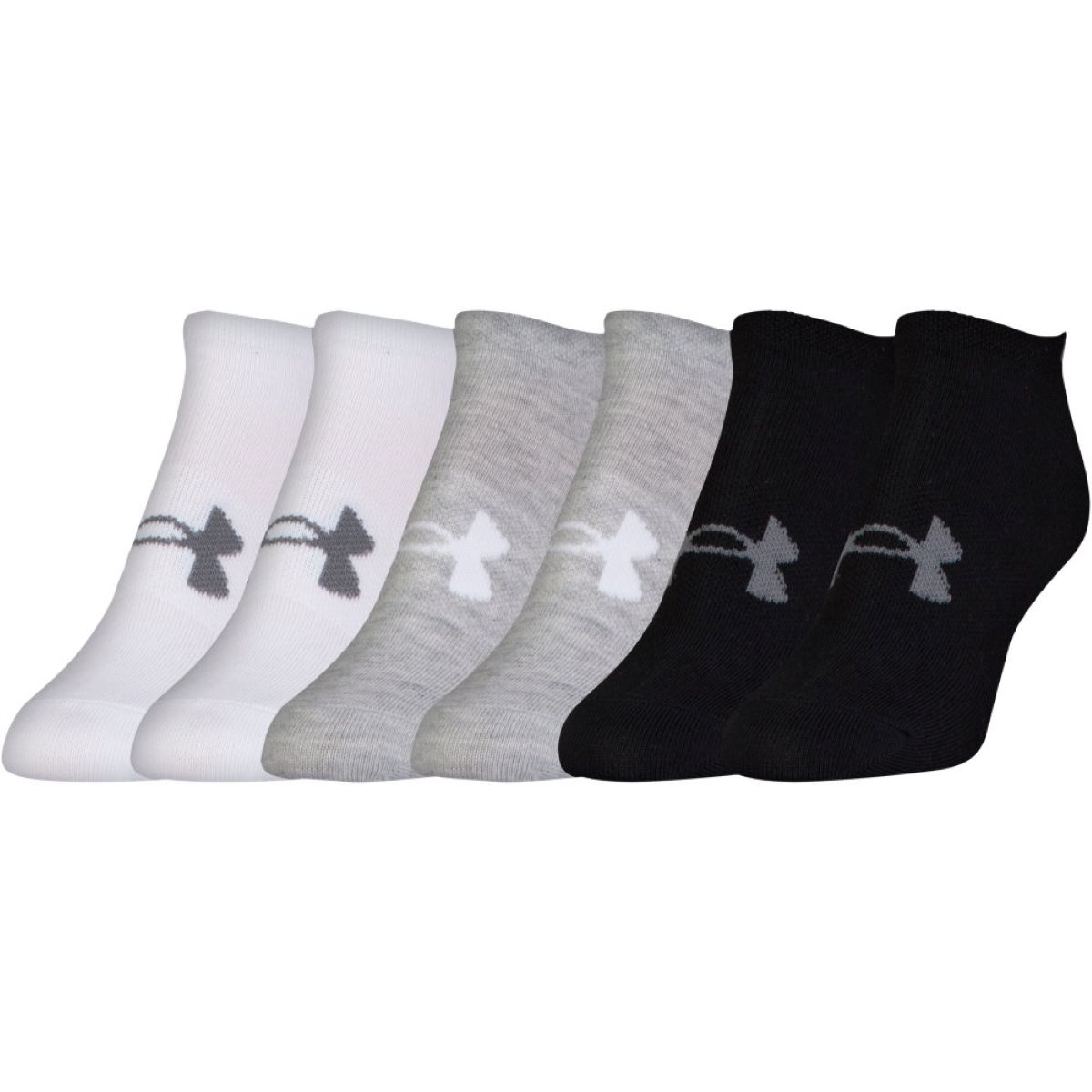 Chaussettes Femme Under Armour Solid No Show (lot de 6, PE17) - M