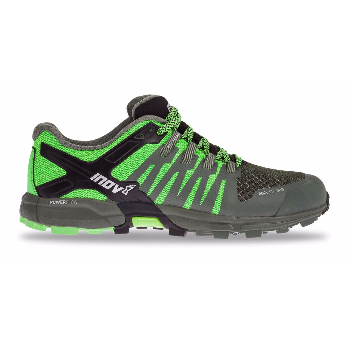 Chaussures Inov-8 Roclite 305 - UK 11 GREEN/BLACK