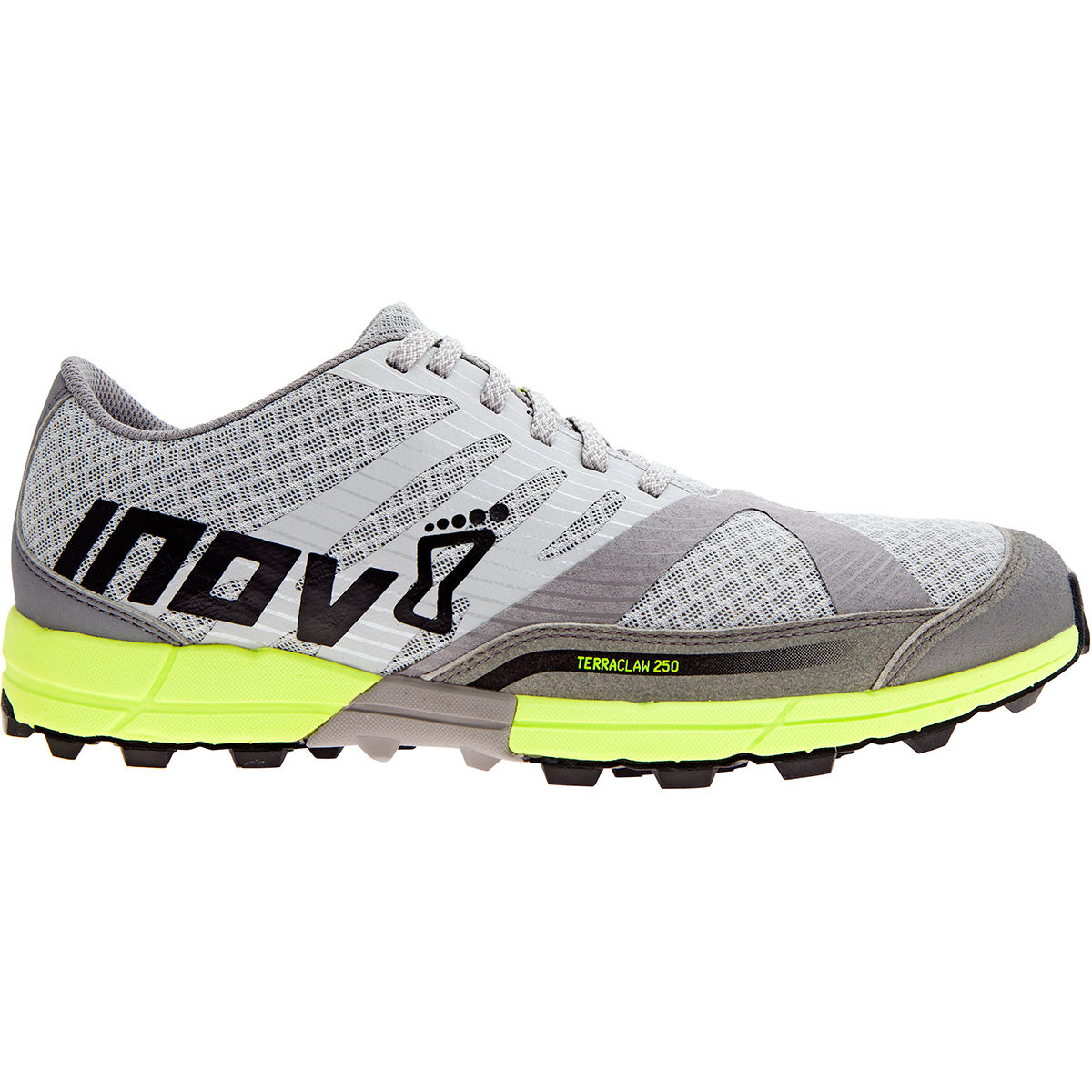 Chaussures Inov-8 Terraclaw 250 Chill (PE17) - 11 UK Silver/Yellow Chaussures de running trail