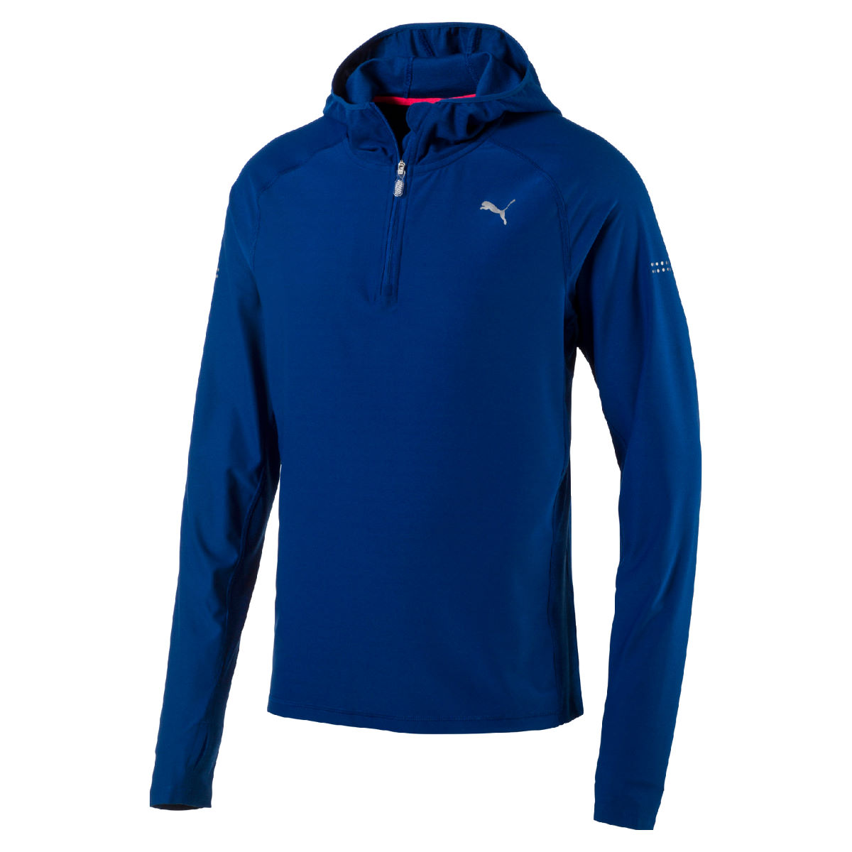 Puma Run Hooded Long Sleeve Top (SS17) - Small True Blue