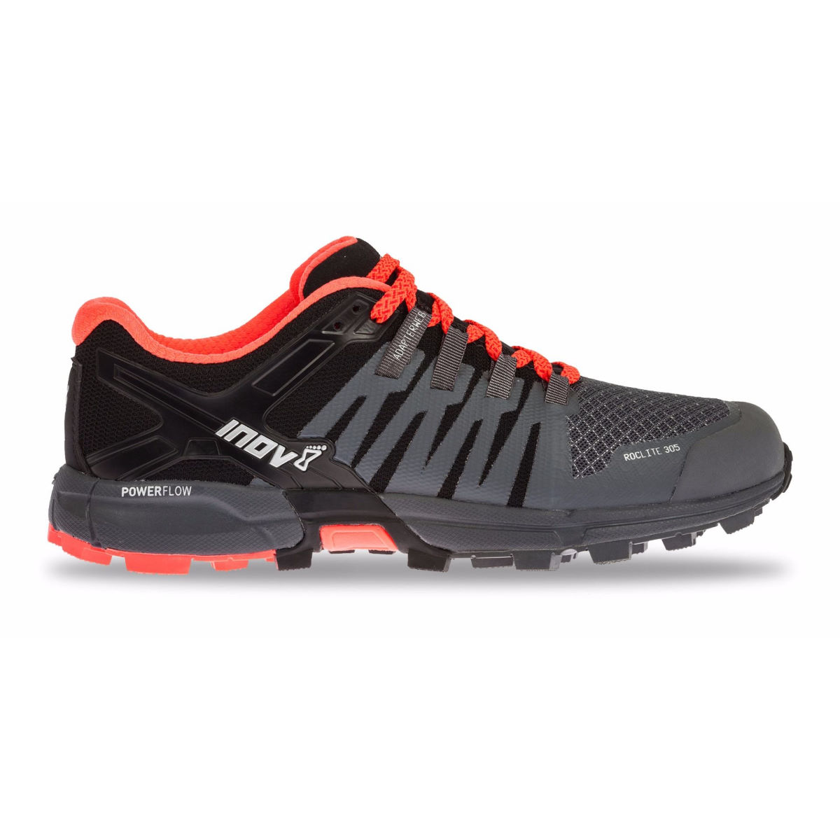 Chaussures Femme Inov-8 Roclite 305 - UK 4 GREY/BLACK/CORAL