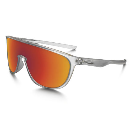 Oakley Trillbe Matte Clear Torch Solglasögon (Iridium)