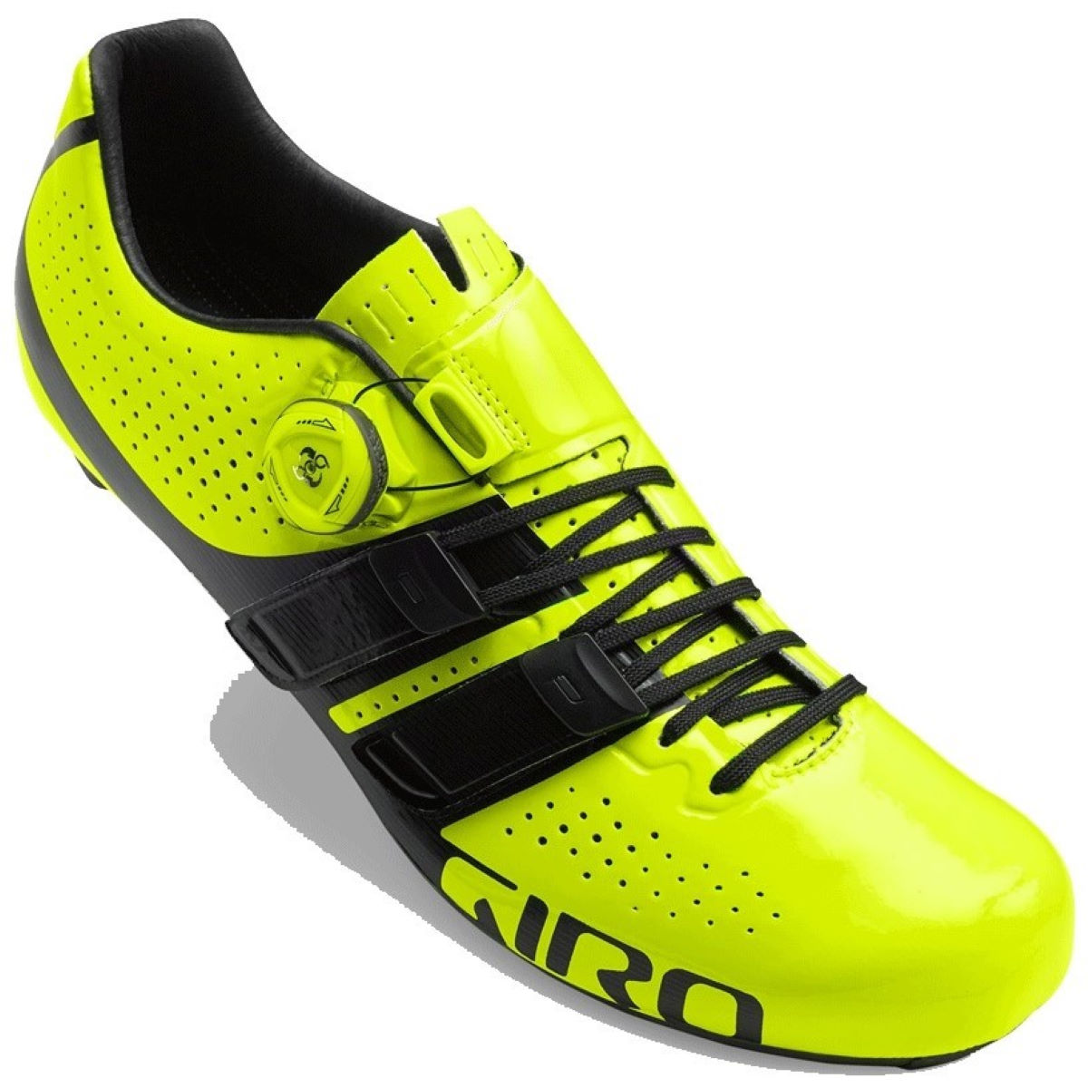 Giro Factor Techlace Road Shoes - 45 Yellow/Black | Road Shoes