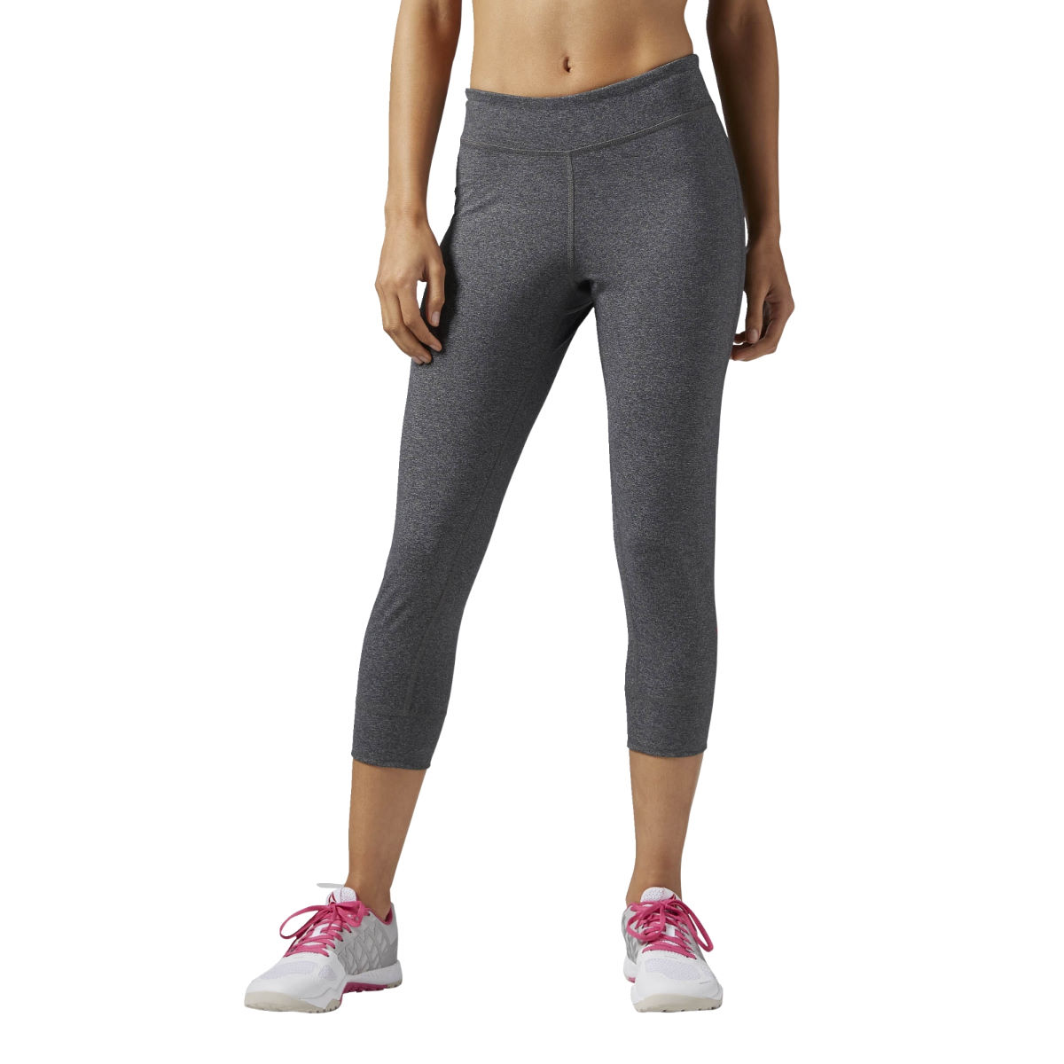 Reebok Womens One Series Capri (SS17) - Small Grey | Running Tights