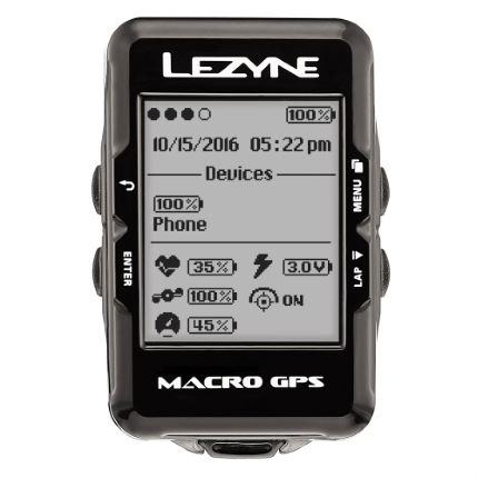 Lezyne Macro Cycle GPS with Mapping
