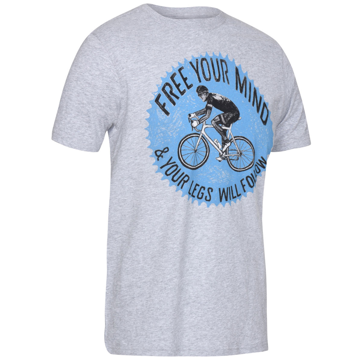 T-shirt Cycology Free your mind - S Gris T-shirts