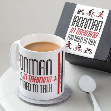 Taza Quirky Gift Library Ironman In Training